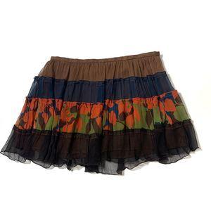 BCBGMaxAzria Skirt Peasant mini boho Medium Floral